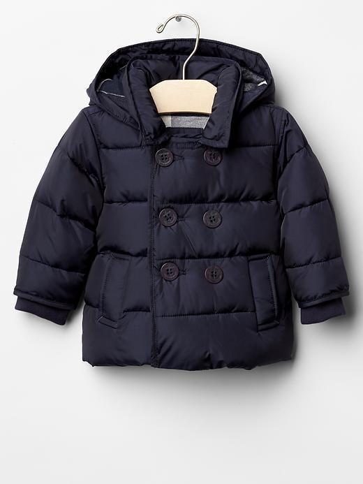 Baby GAP Boys 0-6 Mo NEW Navy Blue Plaid Lining Warmest Peacoat Puffer Coat $68 | eBay