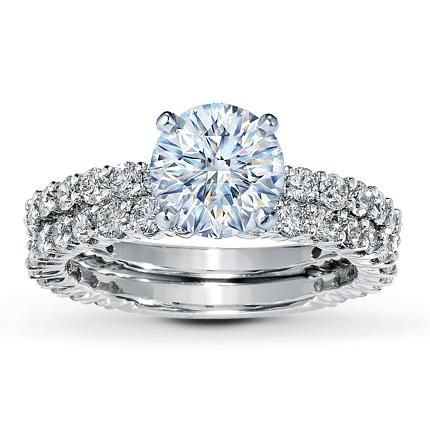 Unique Gorgeous Wedding Ring Set by Kay Jewelers