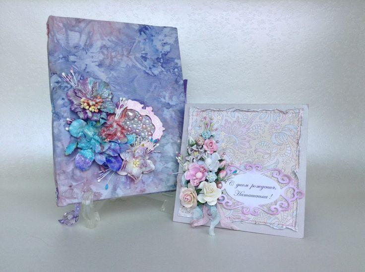 """notebook, card,  блокнот, открытки, альбомы ручной работы мастерская """"Ручные радости"""""""