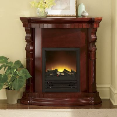 convertible corner electric fireplace from seventh avenue