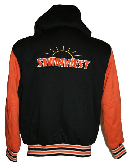 Swimwest Swim Club awards jacket back