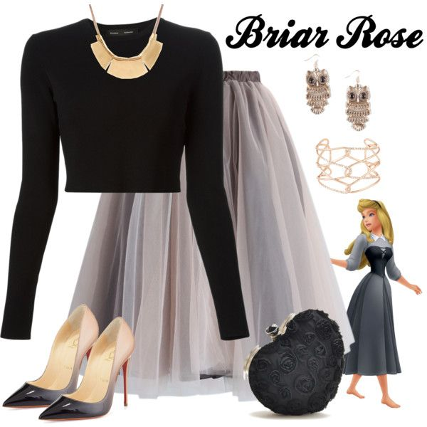 Briar Rose by violetvd on Polyvore featuring polyvore fashion style Proenza Schouler Chicwish Christian Louboutin Alexis Bittar Full Tilt