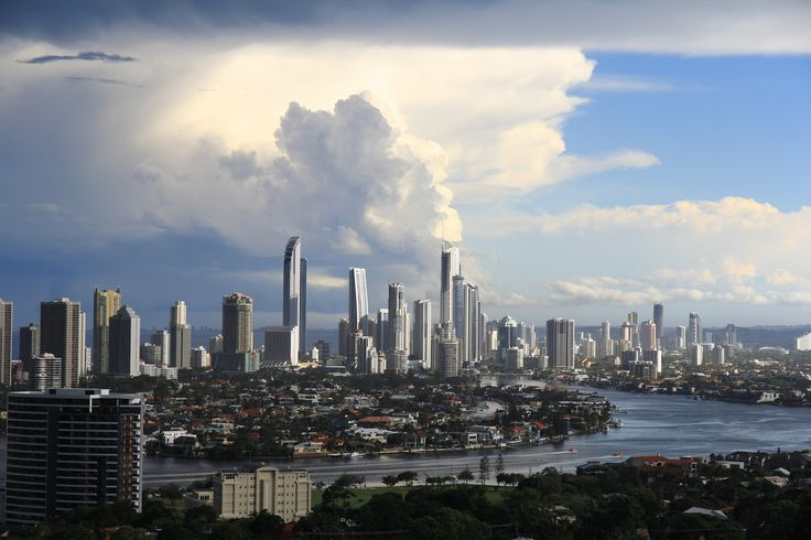 https://flic.kr/p/qZUHrp | Gold Coast Skyline as a summer storm is cleaning up