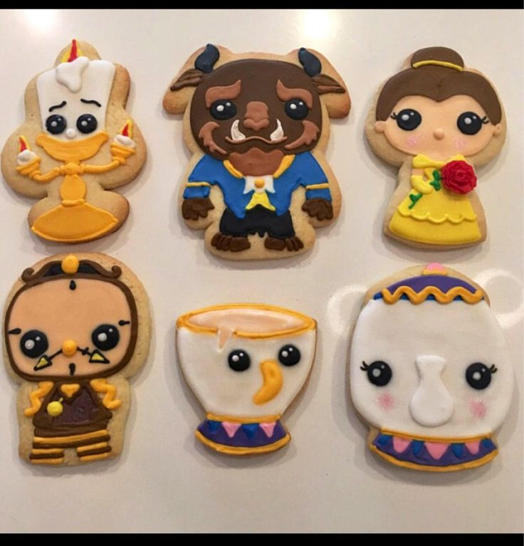 A personal favorite from my Etsy shop https://www.etsy.com/ca/listing/563036357/beauty-and-the-beast-inspired-cookie