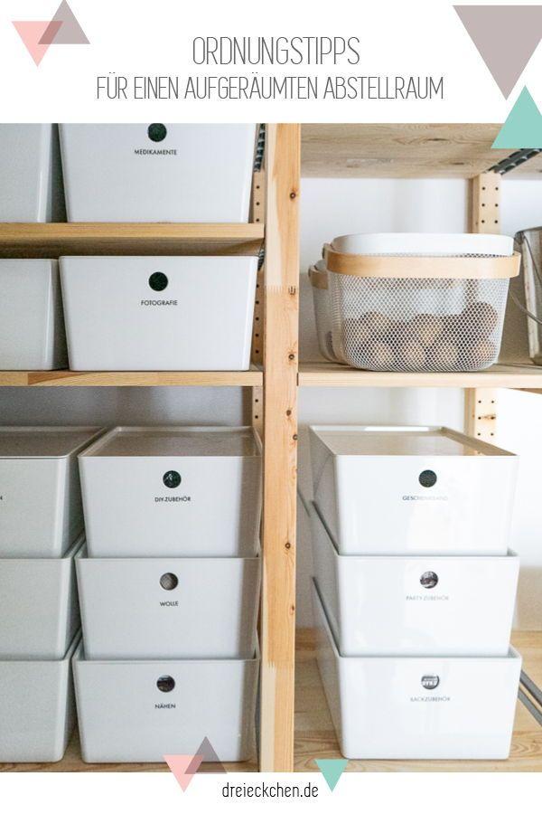 Ordnungssystem Mit Tipps Fur Aufbewahrung In Abstellraum Und Kuche Dreieckchen Ikea Aufbewahrung Abstellraum Vorratsraum Organisieren