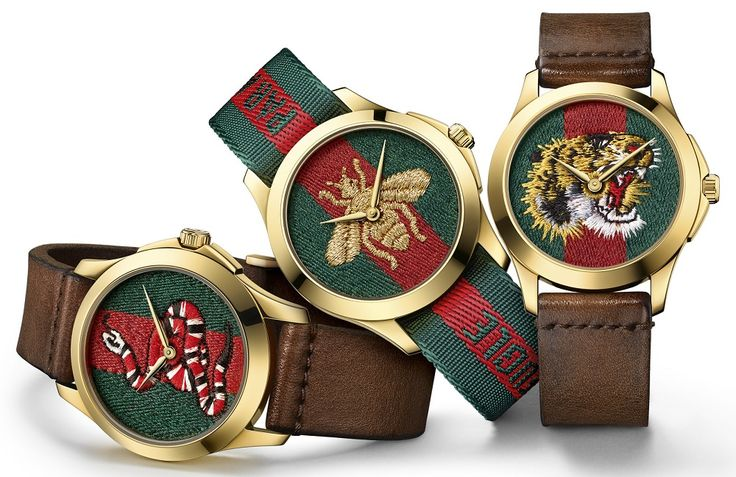 Gucci releases new Dive Watches For 2017 With Embroidery & Rubber Animal Dials. Very artistic and probably never before in a men's watch this style may appeal to many of you out there and why not, it's a pretty cool craft to display on a watch dial...