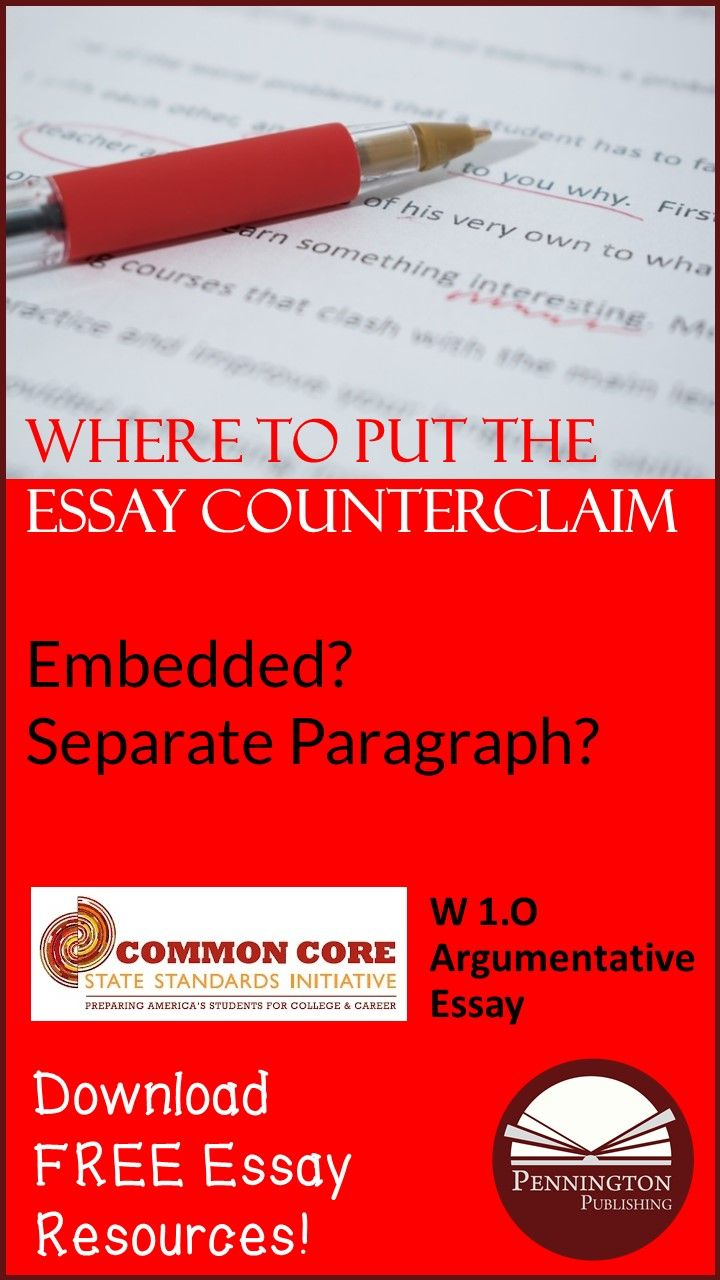 Compare And Contrast Essay High School And College Where Should Writers Place The Counterclaim And Refutation In An  Argumentative Essay Check Out These Options With Helpful Examples And  Download This Free  Essay Thesis Examples also English Essay Sample Where Should Writers Place The Counterclaim And Refutation In An  Sample Essays High School