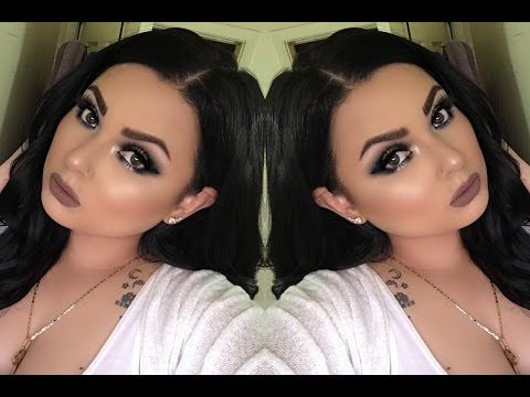 Grunge Glam Look holiday or night out look | PrettyLilMzGrace - YouTube #prettylilmzgrace the best makeup artist on youtube!