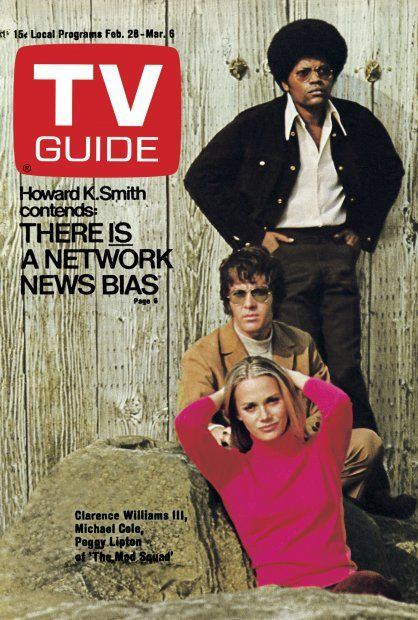 TV Guide, February 28, 1970. Clarence Williams III, Michael Cole and Peggy Lipton.
