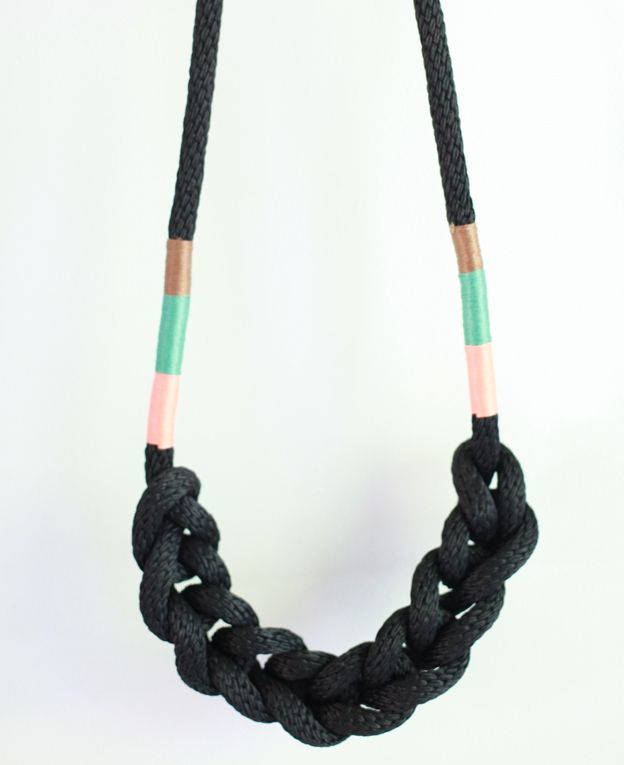 Really like the simple design and pop of color on this braided rope necklace