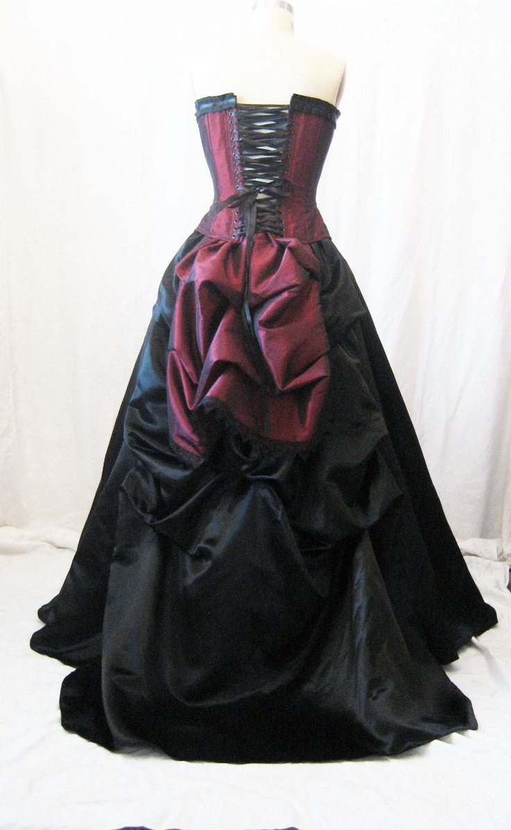 The Secret Boutique Vampire Steampunk Masquerade Corset Victorian gown. $539.99, via Etsy.