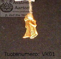 Viking age jewel, bronze: Sackpiper /  Viikinkiajan pronssikoru: Säkkipillinsoittaja