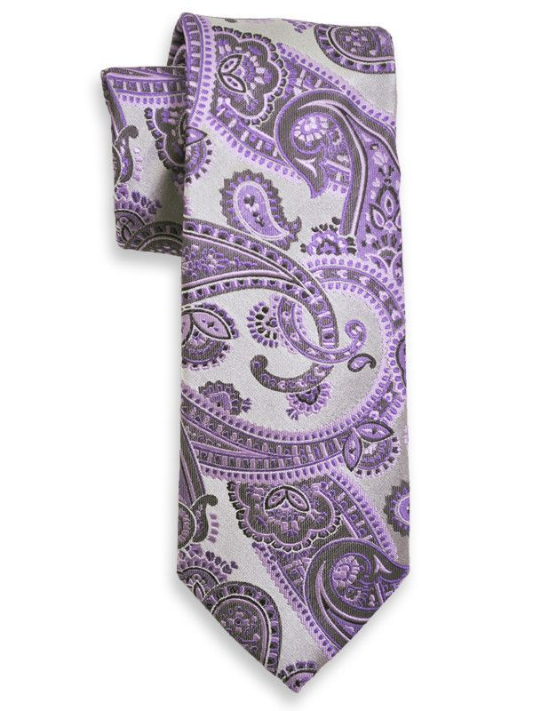 Boy's Tie 13978 Silver/Purple from