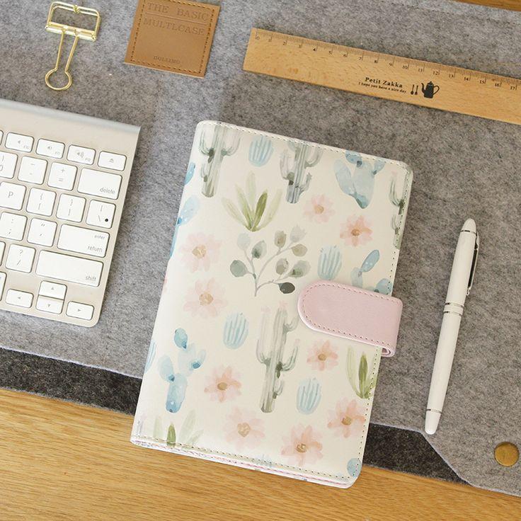 Новый милый творческий кожаные записные книжки, мультфильм личной повестки дня организатор планировщик/filofax дневник недельный планировщик канцелярские подарок A6 купить на AliExpress