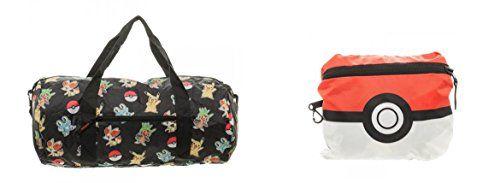 Pokemon Packable Duffle Bag – Pokemon Coin Purse & Pokemon Bag