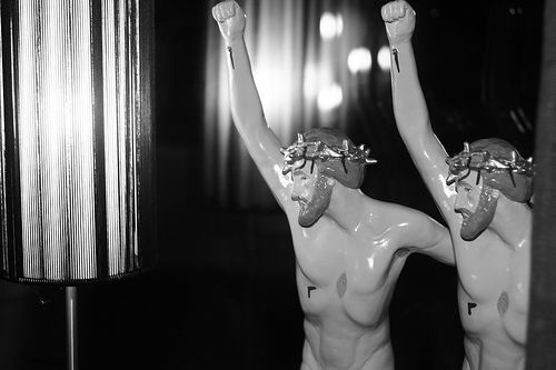 "Jesus statuettes from A Clockwork Orange - ""Christ Unlimited"" - via Flickr"