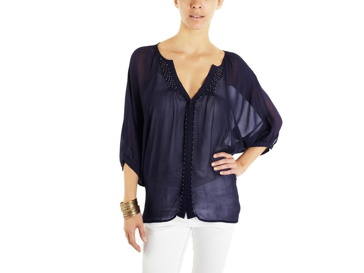 Embroidered Trim Blouse: Summer Shirts, Melissa Meyer, Embroidered Trim, Trim Blouses Repin, Dolman Embroidered, Matty, Pretty Embroidered, Fashion Style Looks, Melissa Of Arabian
