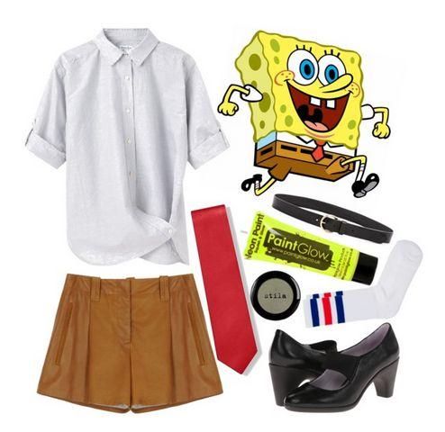 DIY Spongebob Halloween Costume