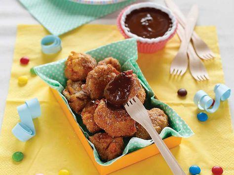 Frittelle di Patate Dolci con Fonduta al Cioccolato--