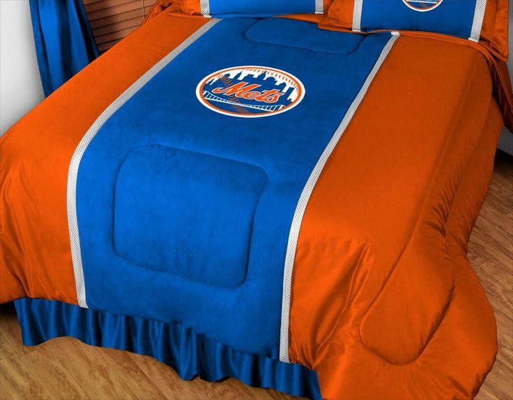 New York Mets MLB Sidelines Comforter/Bedspread/Blanket