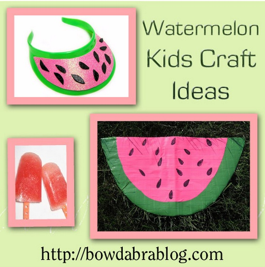 National Watermelon Day -Watermelon Kid Crafts & Popsicle Recipe