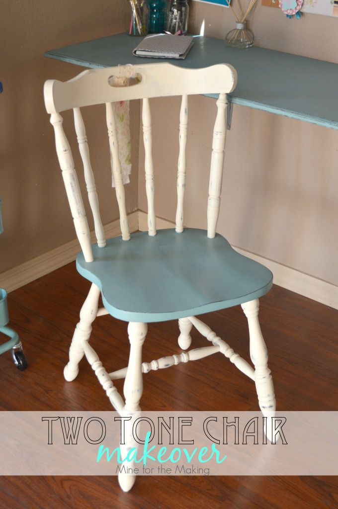 I love a good before and after project. Check out this Two Tone Chair Makeover using Annie Sloan Chalk Paint®.