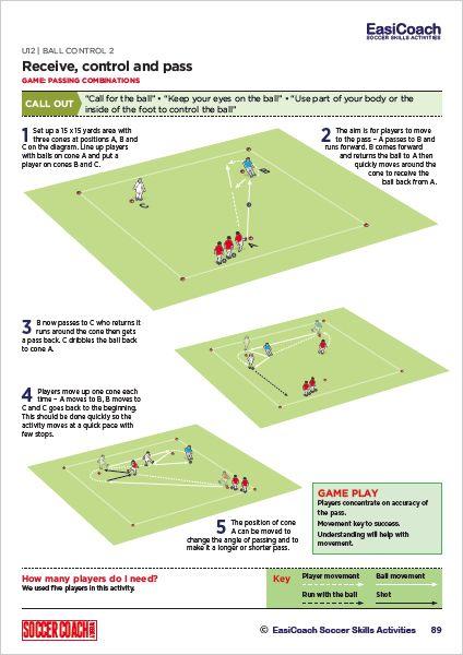Easicoach U11 U12 Soccer Coach Weekly Soccer Drills Soccer Coaching Soccer Drills For Kids