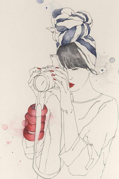 Emma Leonard, amazing fashion illustrator.