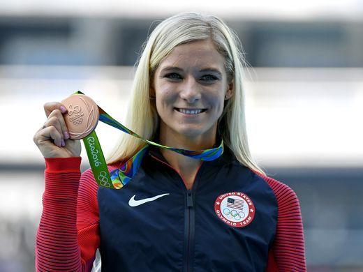 Emma Coburn won bronze in the women's 3,000-meter steeplechase.