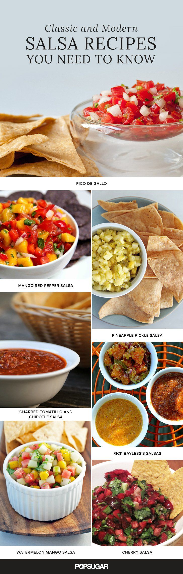 Salsa recipes for every type of taste.