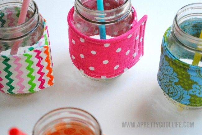 Mason Jar Cozies by A Pretty Cool Life on I Heart Nap Time