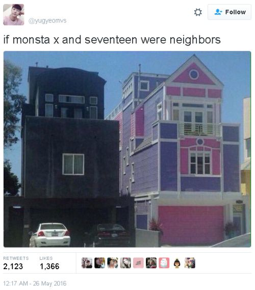 I saw this before with Astro and KNK xD