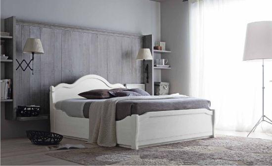 letto in legno con contenitore