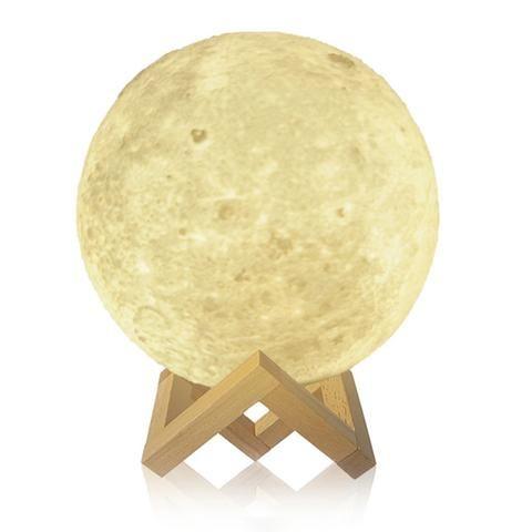 3D Print Moon Lamp USB LED Night Light Moonlight   8-20cm