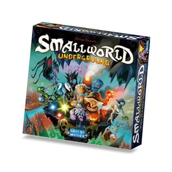 Small World is a zany, light-hearted civilization game in which players vie for conquest and control of a board. Small World Underground brings the action underground for a new battle over more land to take over!