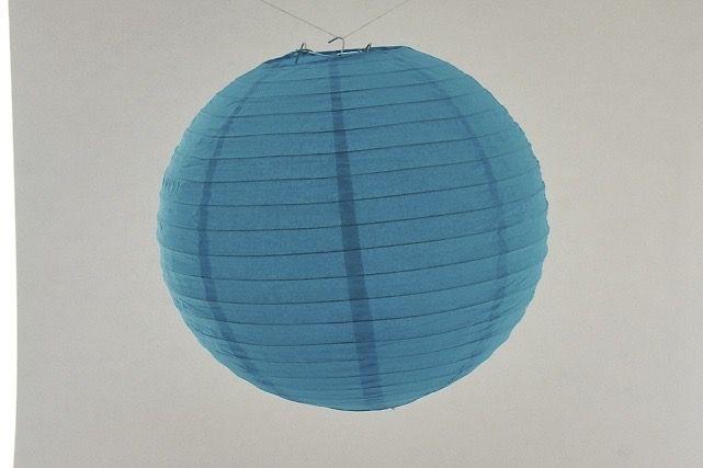 Lanterna di carta di riso da appendere, colore Blu 30 cm, con gancio.