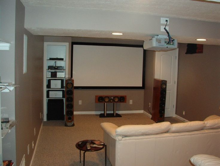 Best 25 small home theaters ideas on pinterest for Basement interior design ideas