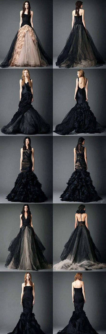 Once you go #black you can never go back. #VeraWang knows that--if I was going really non traditional I would love one of these!