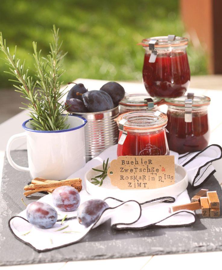 Zwetschgen Marmelade mit Rosmarin und Zimt