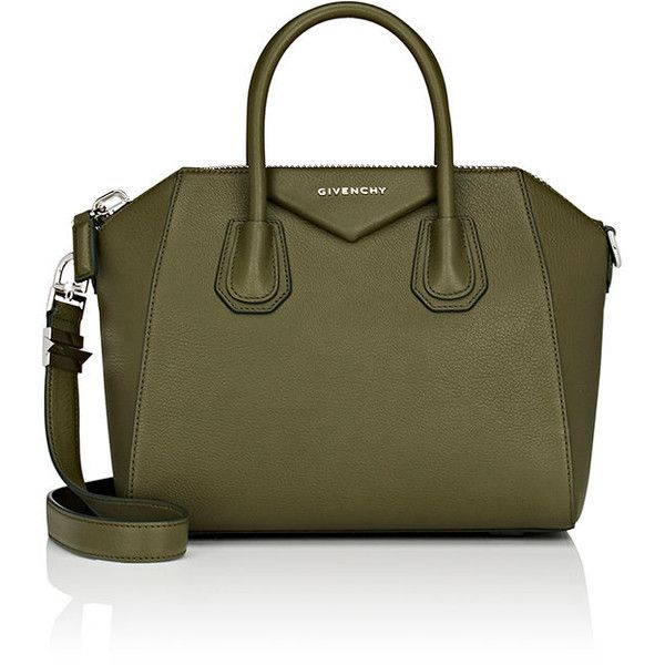 Givenchy Women's Antigona Small Duffel Bag ($2,280) ❤ liked on Polyvore featuring bags, luggage and dark green