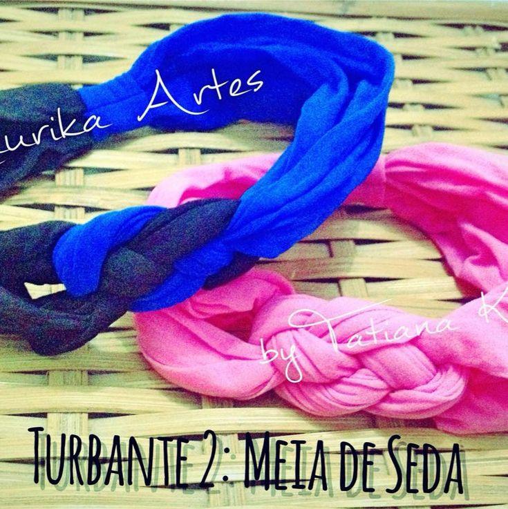 Turbante 2: Trançado de Meia de Seda by Tatiana Karina