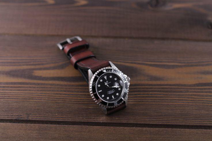 Swiss diver watch Steinhart ocean one with handmade watch strap. #watch #watchstrap #leatherwatchstrap #watchband #leather #mrhaidukoff #watchgeek #watchnerd #watchuseek #leatherworks #wirstshot #wirstwatch #steinhart #steinhartwatch #steinhartoceanone #diverwatch #swisswatch #watchfam #watchporn #menfashion  #menstyle