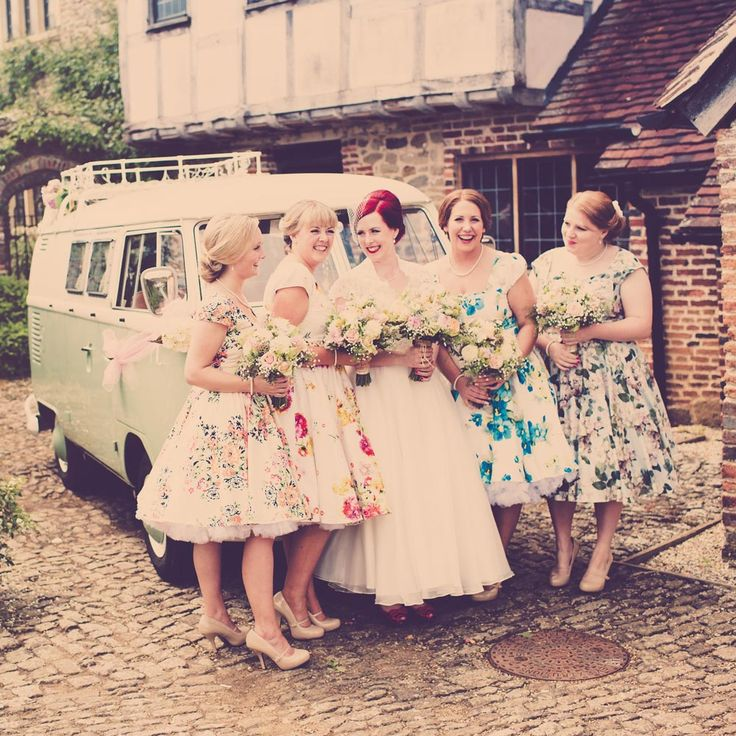 Couples planning a wedding with a vintage theme need vintage bridesmaid dresses to match! Whether you're having a fun 1950s style day or you want bridesmaid dresses to match your glamo ...