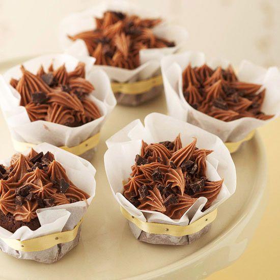 Triple-Chocolate Cupcakes