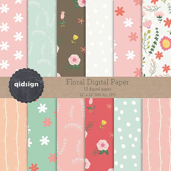 Hey, I found this really awesome Etsy listing at https://www.etsy.com/listing/244607285/floral-digital-paper-flower-digital