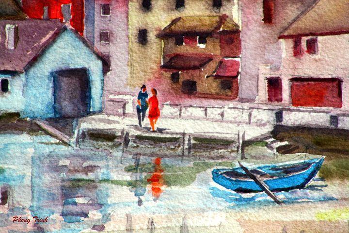 Lods Sur La Loue 15 - Phong Trinh Watercolor Fine Art Print Avail. At: http://www.artpal.com/phongtrinh/