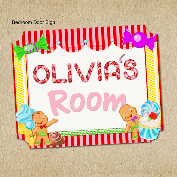 17 best ideas about bedroom door signs on pinterest for Candy themed bedroom ideas