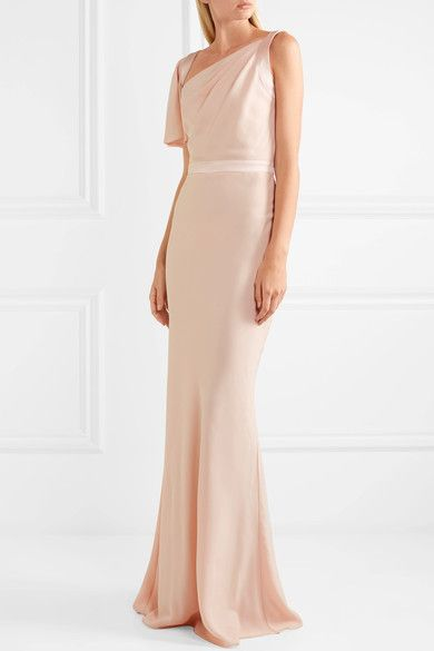 36bdf649bda2f Alexander McQueen - Draped satin-trimmed crepe gown | top and bottom ...