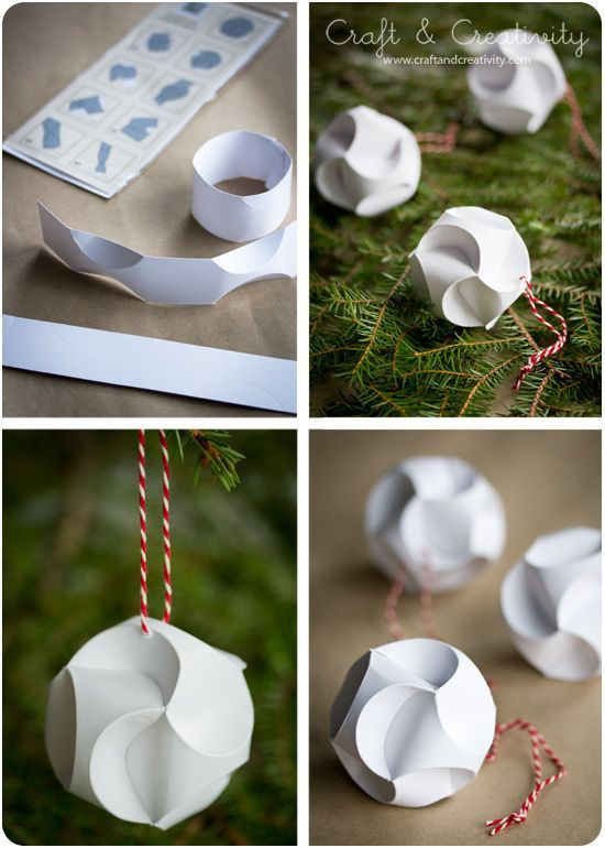 Julpyssel i papper Christmas paper crafts (Craft & Creativity) #Papercrafts #Cre…