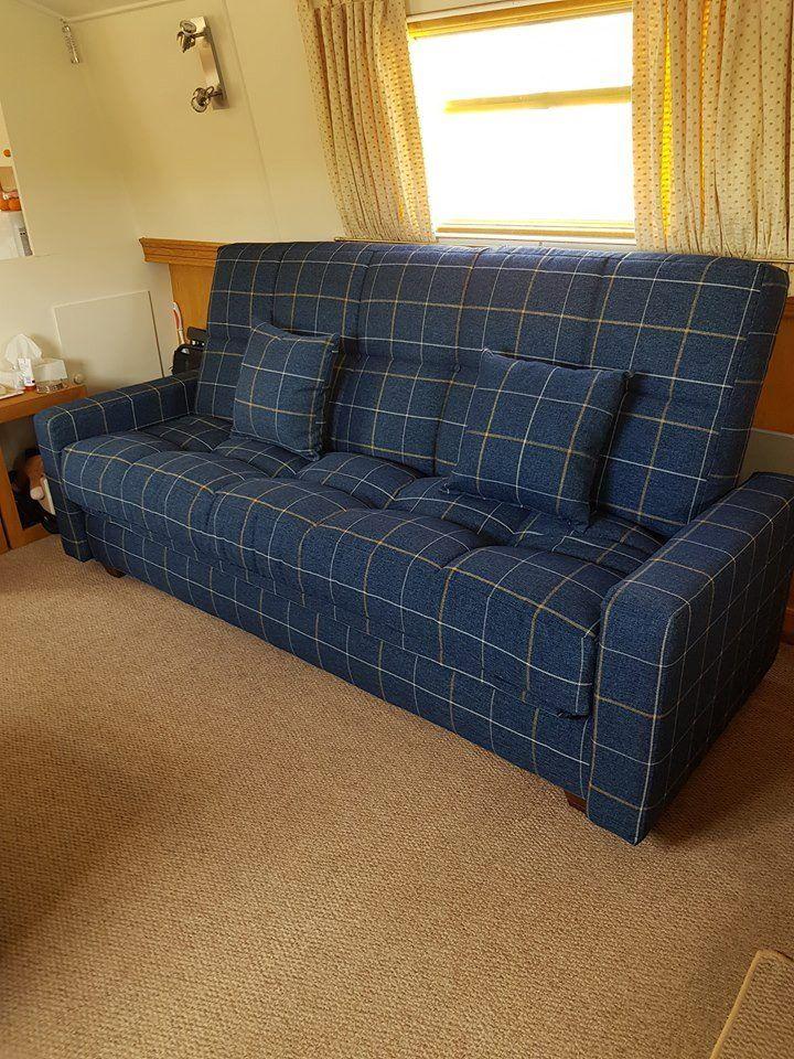 Richmond 3 Seat sofa bed handmade in a luxury fabric